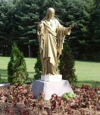 Statue of Jesus on the grounds